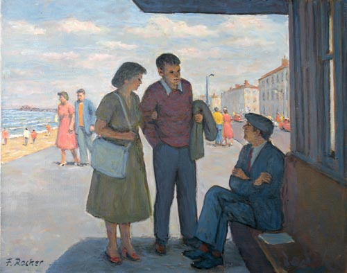 A Chat on the Promenade