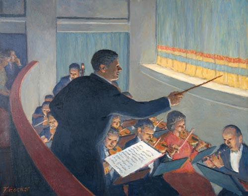 Conducting the Orchestra at the Opera