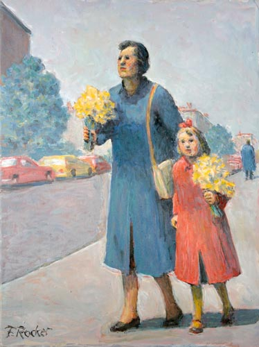 Carrying Daffodils