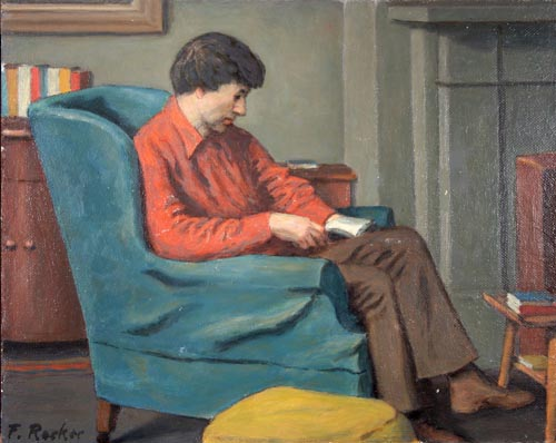 Reading in the Blue Chair
